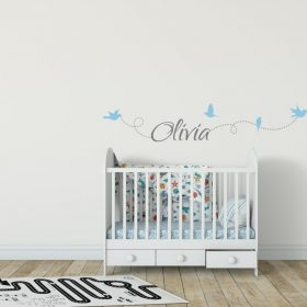 Girls Name on String 6b Wall Sticker