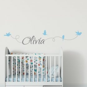 Girls Name on String 6b2 Wall Sticker