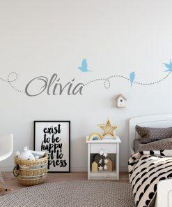 Girls Name on String 6c Wall Sticker