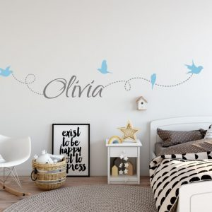 Girls Name on String 6c Wall Sticker