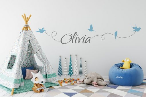 Girls Name on String 6d Wall Sticker