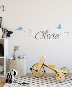 Girls Name on String 6e Wall Sticker