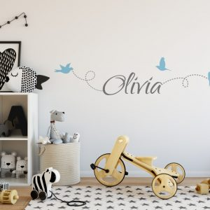 Girls Name on String 6e Wall Sticker