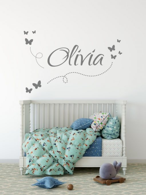 Girls Name on String 7a Wall Sticker