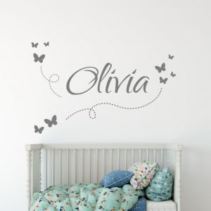 Girls Name on String 7a2 Wall Sticker