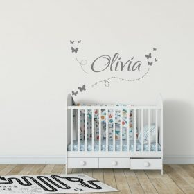 Girls Name on String 7b Wall Sticker