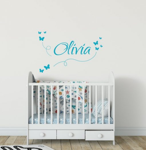 Girls Name on String 7c2 Wall Sticker
