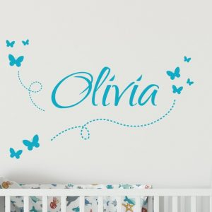 Girls Name on String 7c3 Wall Sticker