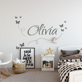 Girls Name on String 7d Wall Sticker