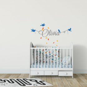 Girls Name on String 8a Wall Sticker