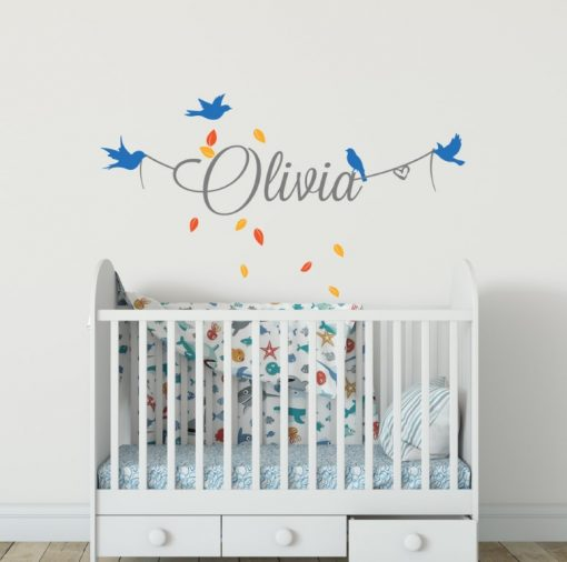 Girls Name on String 8a2 Wall Sticker