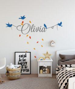 Girls Name on String 8b Wall Sticker