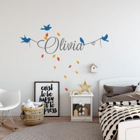 Girls Name on String 8b Wall Sticker