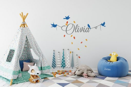 Girls Name on String 8c Wall Sticker