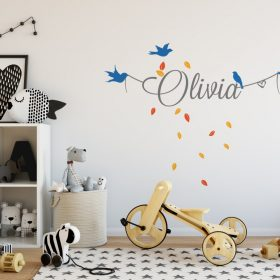 Girls Name on String 8d Wall Sticker