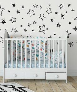 Hand Drawn Stars 3 Wall Sticker