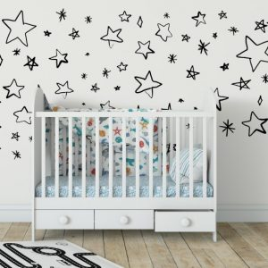 Hand Drawn Stars 3 Wall Sticker