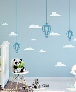 Hanging Hot Air Balloons 1b Wall Sticker