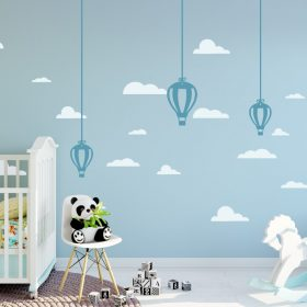 Hanging Hot Air Balloons 1b Wall Sticker