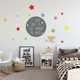 I love you to the moon and back 1a Wall Sticker