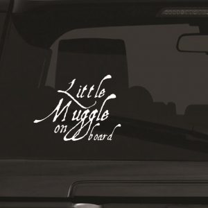 Little Muggle on board Car Window large-01 Wall Sticker