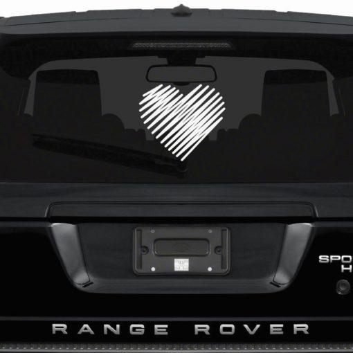 love heart car sticker
