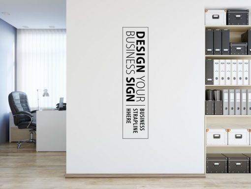 Personalised Signs no1 - Wall Stickers Business Signs 1