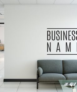 Personalised Signs no13 - Wall Stickers Business Signs 1