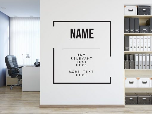 Personalised Signs no157 - Wall Stickers Business Signs 2