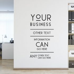 Personalised Signs no168 - Wall Stickers Business Signs 2