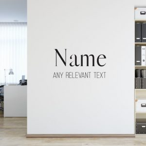 Personalised Signs no176 Wall Stickers Business Signs 2
