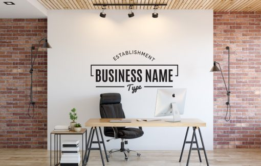 Personalised Signs no8 - Wall Stickers Business Signs 1