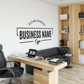 Personalised Signs no8 - Wall Stickers Business Signs 2