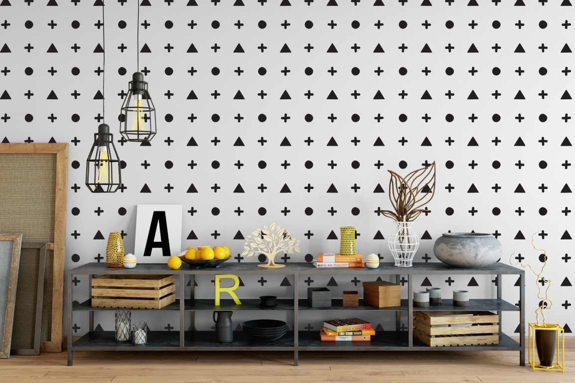 Plus Dot Triangle 1f Wall Sticker