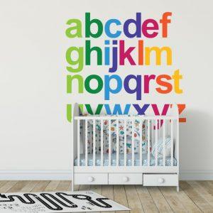 Rainbow Alphabet 1a Wall Sticker
