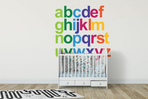 Rainbow Alphabet 1a Wall Sticker