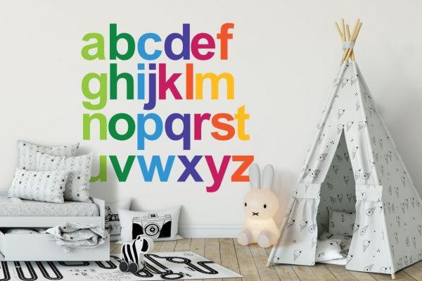 Rainbow Alphabet 1b Wall Sticker