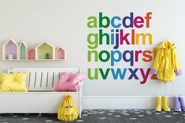 Rainbow Alphabet 1d Wall Sticker