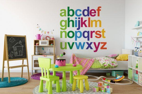 Rainbow Alphabet 1e Wall Sticker
