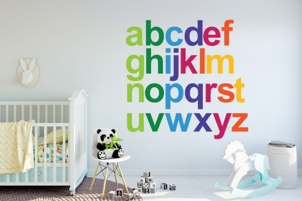 Rainbow Alphabet 1f Wall Sticker