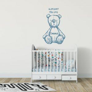 Teddy Bear Name 2 Wall Sticker
