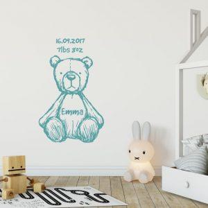teddy bear wall sticker urban artwork