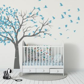 Tree blowing to birds 1a Wall Sticker