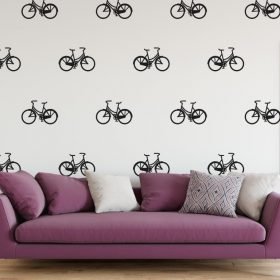 bicycle wall stickers pattern