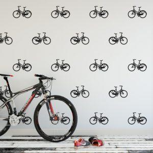 bicycle wall pattern 1i Wall Sticker