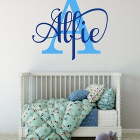 boys name 2018 wall sticker
