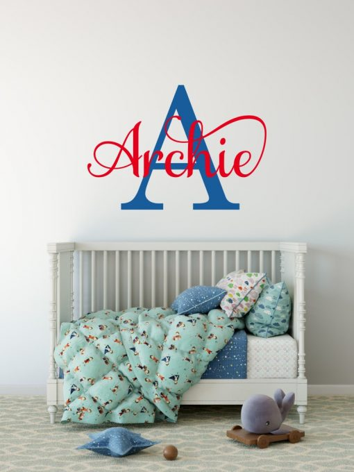boys name sticker