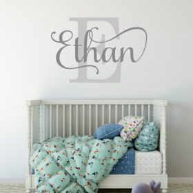 boys name wall art sticker