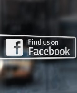 find us on facebook window stickers 2