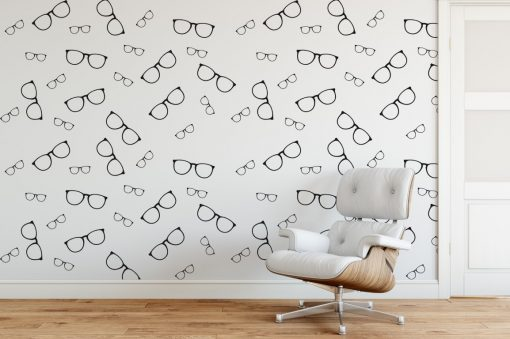 glasses wall pattern 1b Wall Sticker